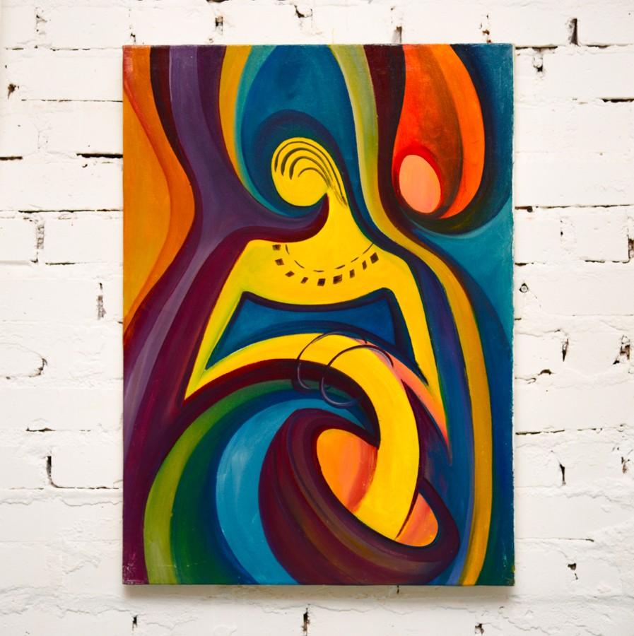 Женщина абстракция
